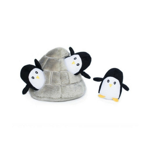 Zippy Paws Penguin Cave Burrow Interactive Plush Puzzle Dog Toy