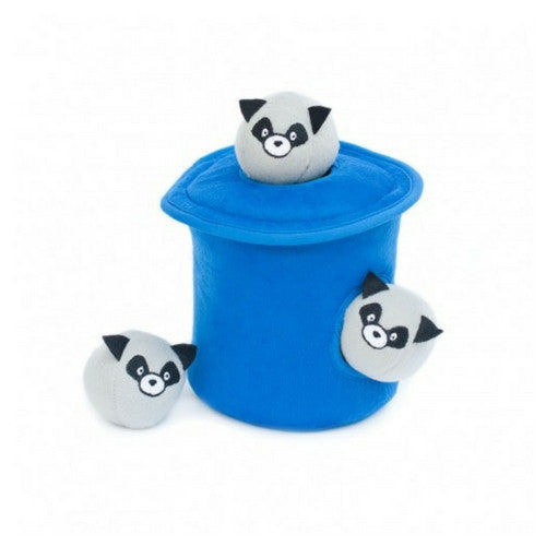 Zippy Paws Racoon in Trash Can Burrow Interactive Plush Puzzle Dog Toy