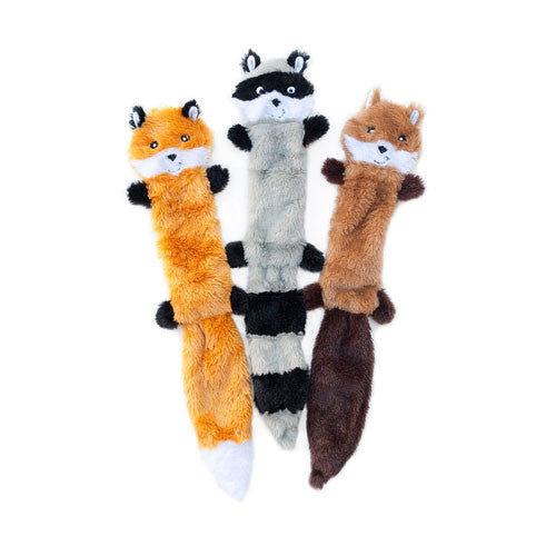 Zippy Paws Skinny Peltz Wildlife Themed Plusg Dog Toys Small