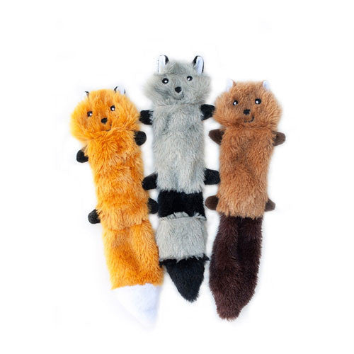Zippy Paws Skinny Peltz Wildlife Themed Plusg Dog Toys Large