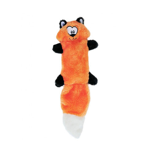 Zippy Paws Zingy Fox Wildlife Themed Plush Dog Toy