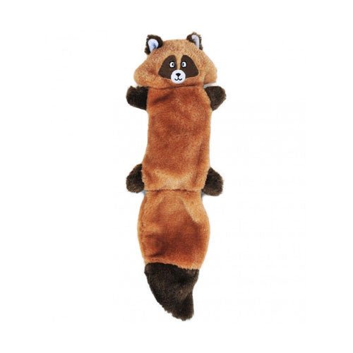 Zippy Paws Zingy Raccoon Wildlife Themed Plush Dog Toy