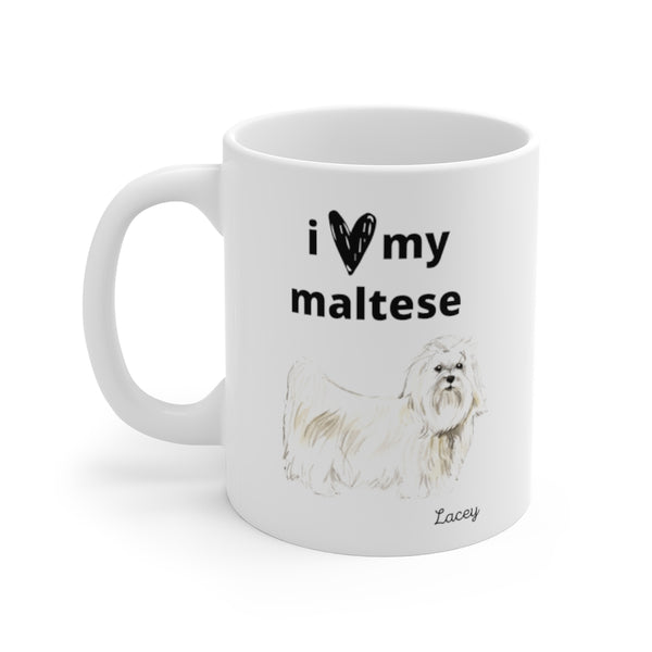 i love my maltese Mug (left side view)