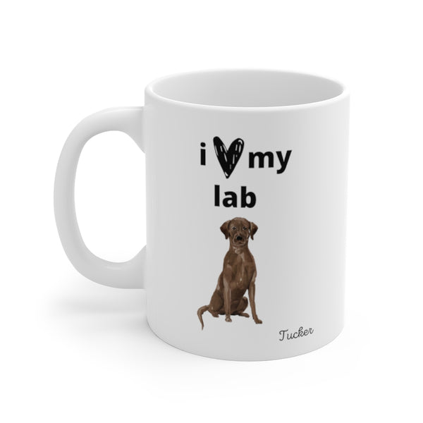 i love my lab Mug — Chocolate Lab (left side view)