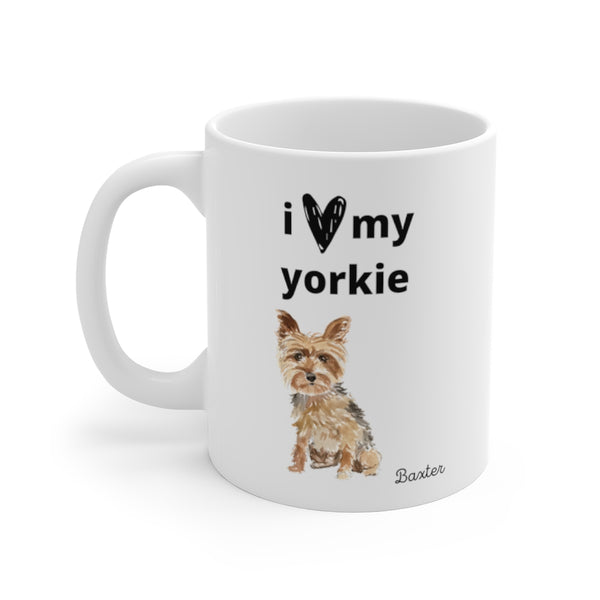 i love my yorkie Mug (left side view)