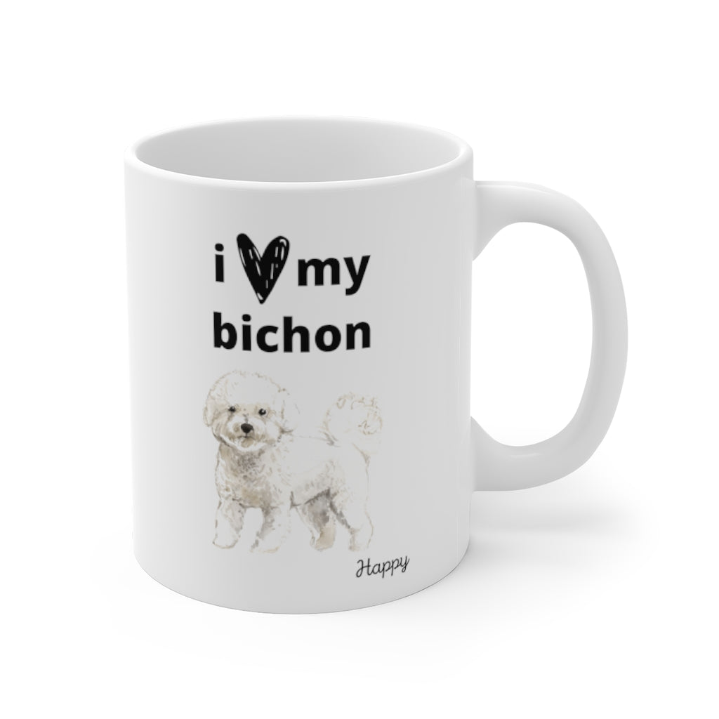 i love my bichon Mug (right side view)