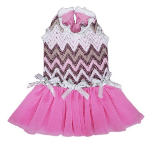 Pooch Outfitters Daphne Pink Party Dog Dress
