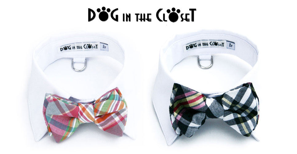 Dog In The Closet Madras Bow Tie