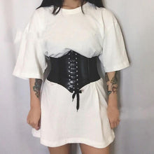 Load image into Gallery viewer, Faux Leather Corset - Momo Babe