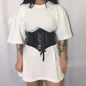 Faux Leather Corset - Momo Babe