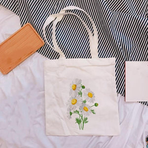Colored Flower Tote Bag Collection - Momo Babe