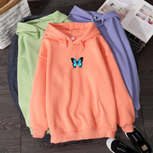 Load image into Gallery viewer, Loose Butterfly Hoodie - Momo Babe