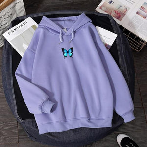 Loose Butterfly Hoodie - Momo Babe