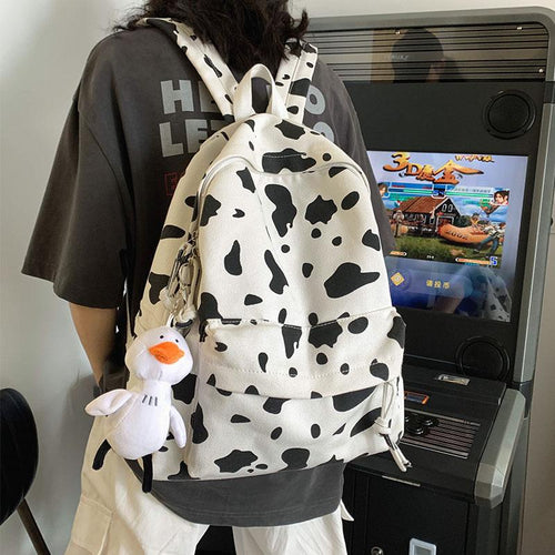 Cow Print Backpack - Momo Babe