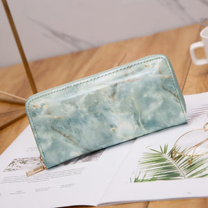 Glossy Marble Wallet - Momo Babe
