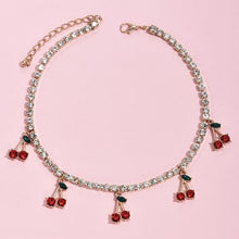 Load image into Gallery viewer, Cherry Rhinestone Necklace - Momo Babe