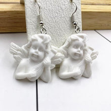 Load image into Gallery viewer, White Cherub Drop Earrings - Momo Babe