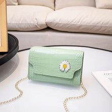 Load image into Gallery viewer, Faux Crocodile Daisy Shoulder Bag - Momo Babe