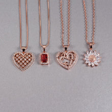 Load image into Gallery viewer, Rose Gold Crystal Necklaces - Momo Babe