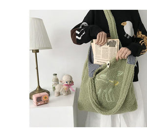 Fluffy Sheep Tote Bag - Momo Babe