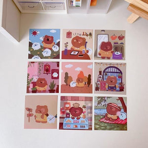 kawaii Bears Stationery Prints Set
