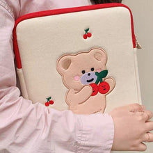Load image into Gallery viewer, Cherry Bear Sleeve Case - Momo Babe