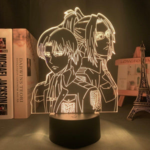 Levi Ackerman & Hange Zoë 3D LED Light