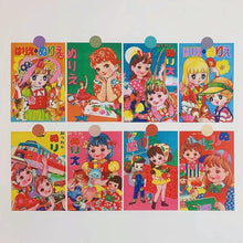 Load image into Gallery viewer, Japanese Retro Dolls Postcards and Stickers - Momo Babe