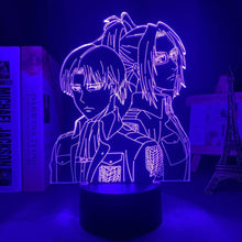 Load image into Gallery viewer, Levi Ackerman & Hange Zoë 3D LED Light
