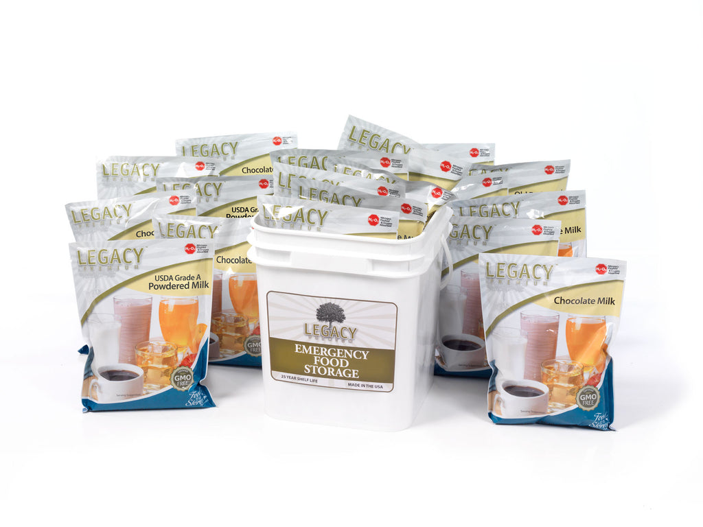 160 Serving Mixed Powdered Milk Food Storage by Legacy Premium