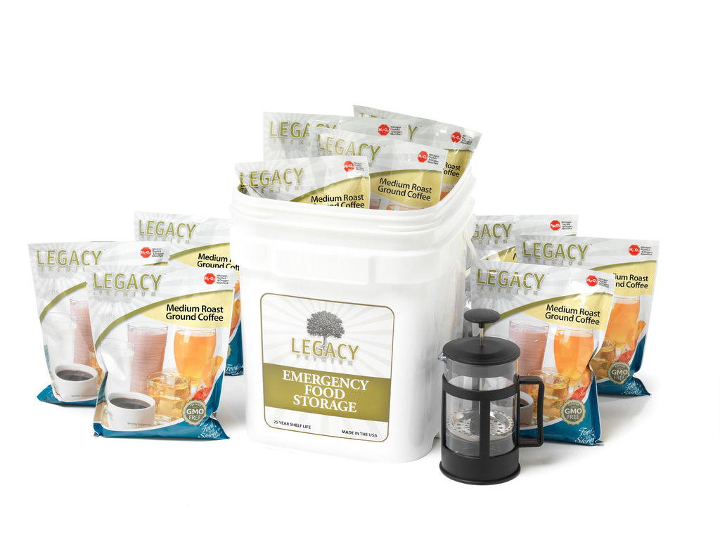 350 Servings of Long Term Freeze Dried Coffee from Legacy Food Storage