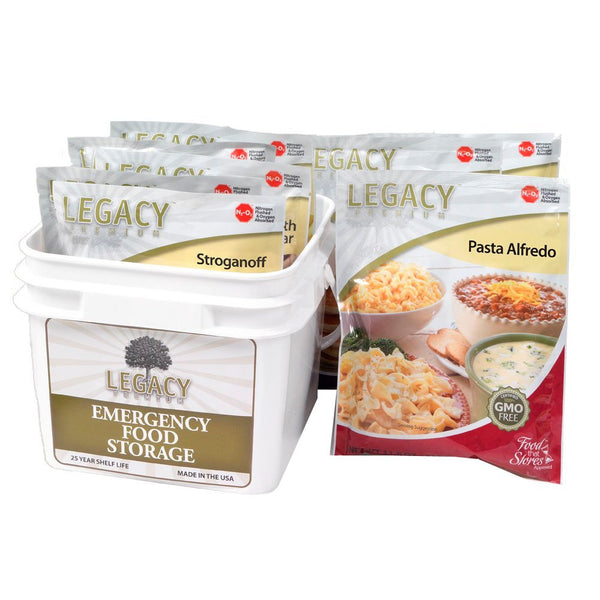 Legacy Food Storage 72 Hour Family Kit of Freeze Dried Survival Bucket