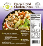 Legacy Food Storage 96 Serving Freeze Dried Diced Beef and Chicken Survival Food
