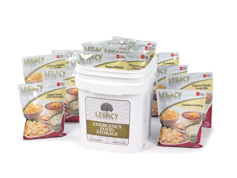 Legacy Food Storage 60 Serving Bucket of Freeze Dried Survival Food