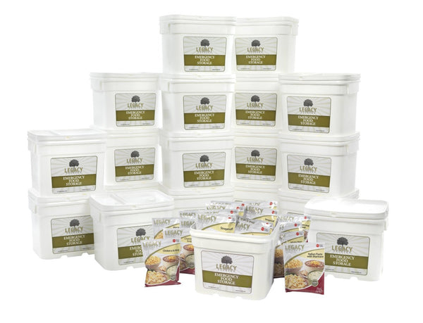 Legacy Food Storage 2160 Servings of Freeze Dried Survival Food