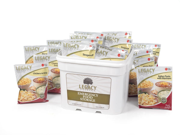Legacy Food Storage 120 Serving Bucket of Freeze Dried Survival Entrees