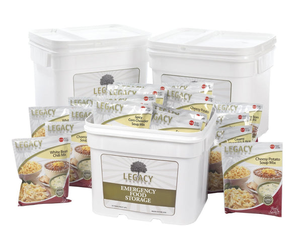 Legacy Food Storage 360 Serving Gluten Free Bucket of Freeze Dried Survival Food