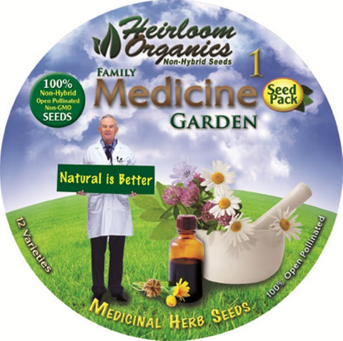 Heirloom Organics Family Medicine Pack Garden Seeds