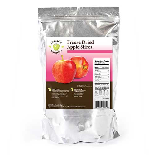 Apple Slices Legacy Premium freeze Dried survival food storage