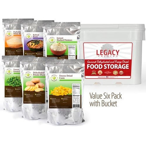 Six Assorted Freeze Dried Assorted Side Dishes by Legacy Food Storage