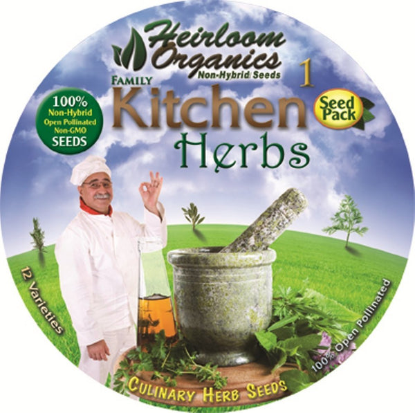 Heirloom Organics Family Kitchen Herb pack