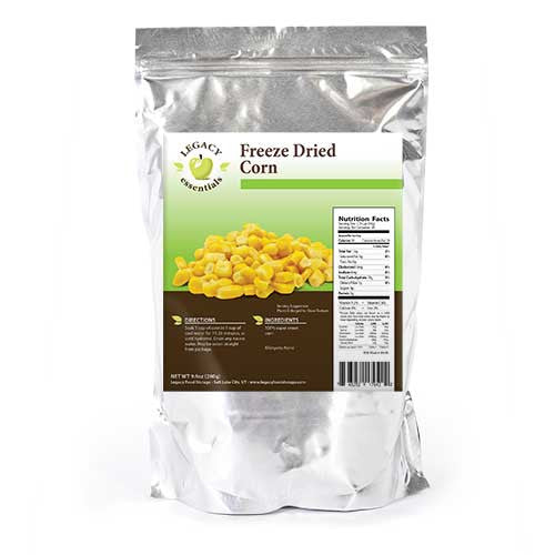 Legacy Food Storage Freeze Dried Survival Corn Pouch