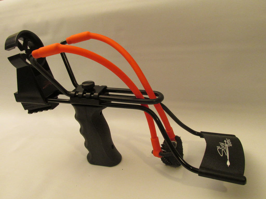 hunt small game and fish with the Slingbow