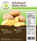 Legacy Food Storage Dehydrated Potato Dices Pouch