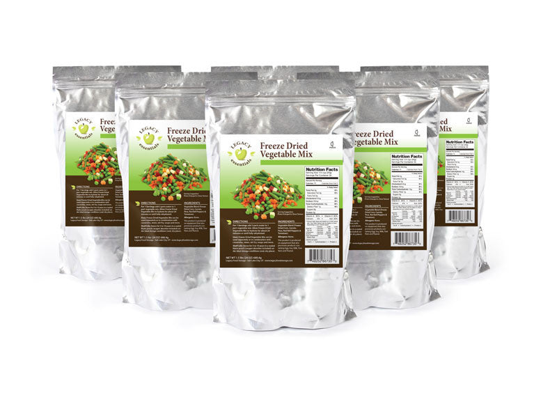 Legacy Premium freeze dried vegetable medley mix emergency survival food storage