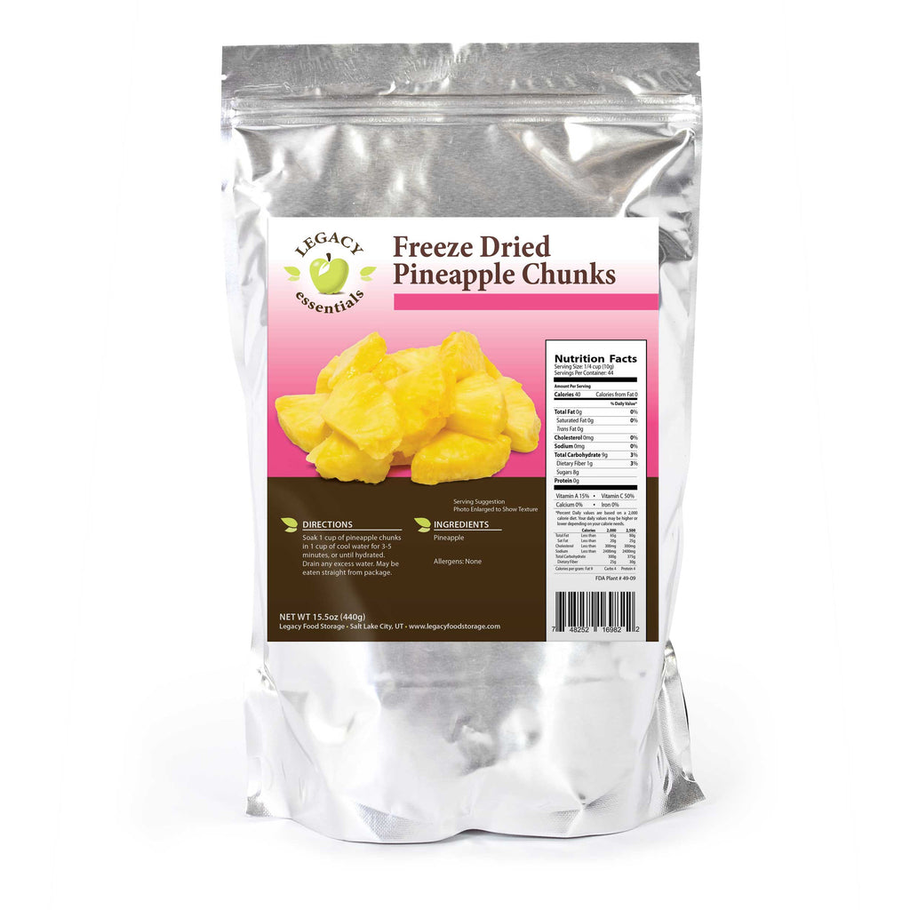 Six Assorted Freeze Dried Fruit Sides by Legacy Food Storage
