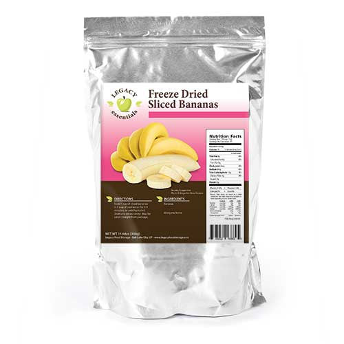 30 Servings Banana Chip Pouch by Legacy Premium Freeze Dried Survival Food Storage