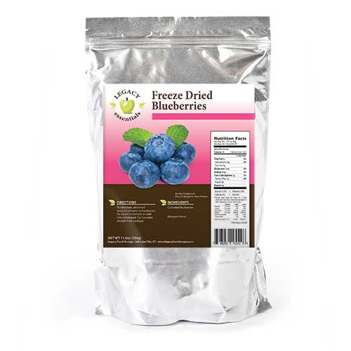 60 Servings Blueberries Pouch Freeze Dried Survival Food Storage Legacy Premium