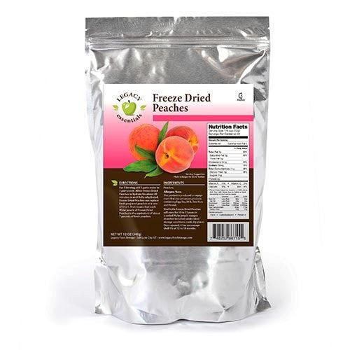 Legacy Premium freeze dried peaches emergency survival food storage