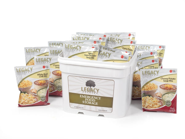 Legacy Food Storage 120 Serving Gluten Free Bucket of Freeze Dried Survival Food
